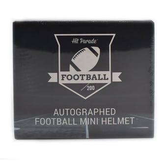 2019 Hit Parade Autographed Football Mini Helmet Hobby Box - Series 6 - P. Manning, Watson, & McCaffrey!!!