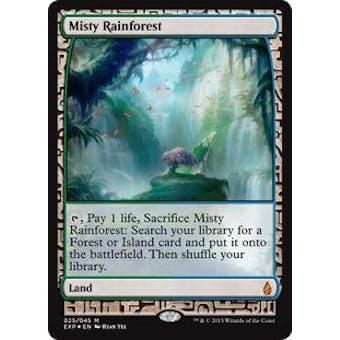 Magic the Gathering Zendikar Expedition Single Misty Rainforest FOIL - NEAR MINT (NM)