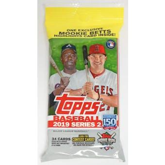 2019 Topps Series 2 Baseball Jumbo Value 34-Card Pack (Mookie Betts Insert) (Lot of 5)