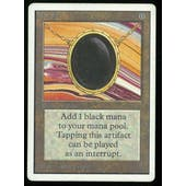Magic the Gathering Unlimited Mox Jet - MODERATE PLAY plus (MP+)