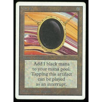 Magic the Gathering Unlimited Mox Jet - MODERATE PLAY plus (MP+) slight inking