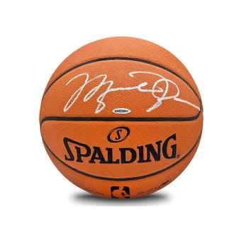 Michael Jordan Autographed Spalding Silver Signature Basketball UDA