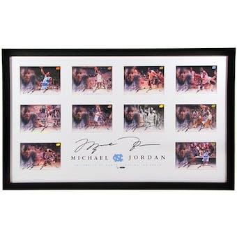 Michael Jordan Autographed Framed UNC 5x7 Collection 8/25 w/11 Autos!!!    UDA  Upper Deck Authenticated