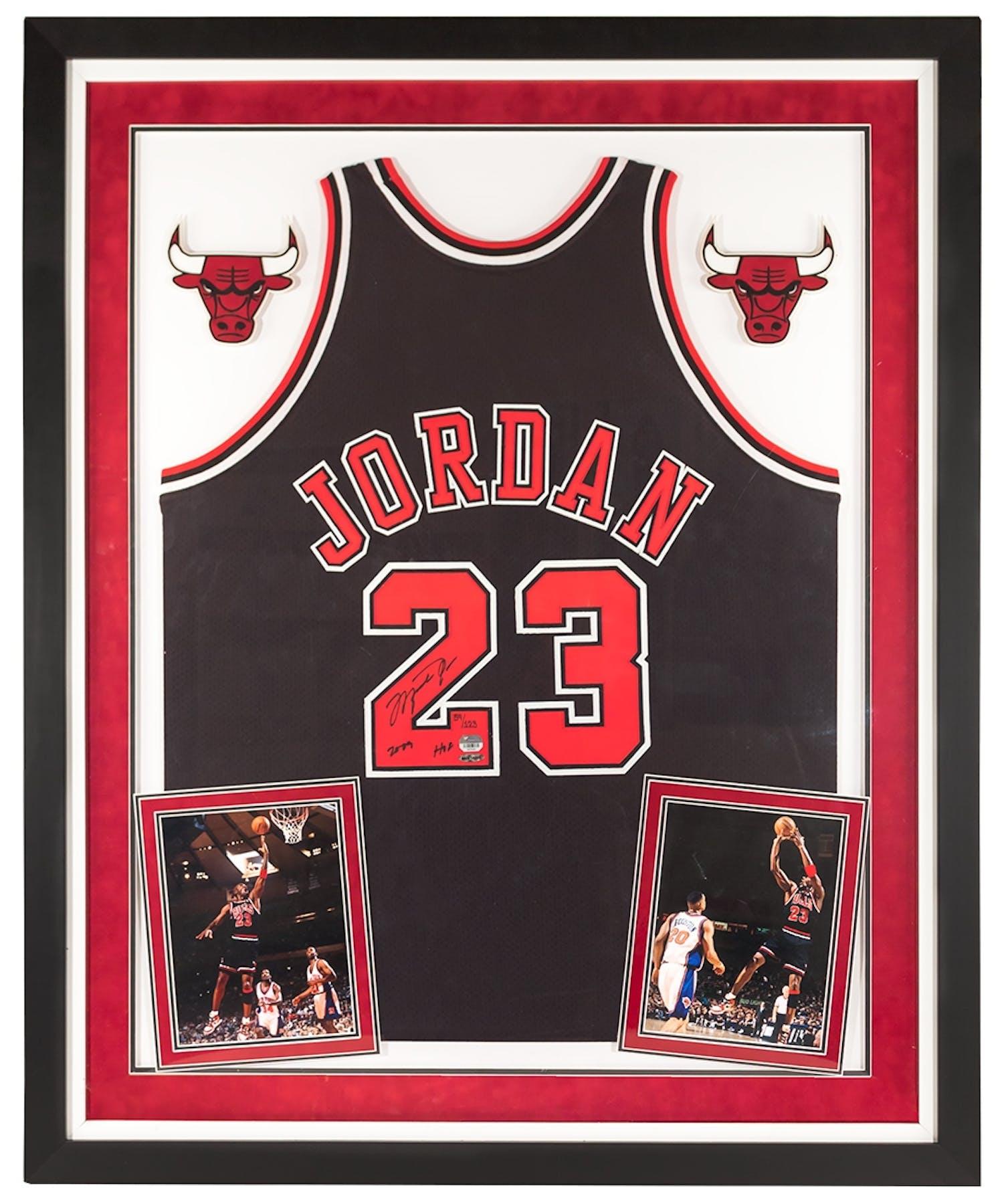 c334fd4cbf7 Michael Jordan Autographed   Framed Chicago Bulls Jersey w