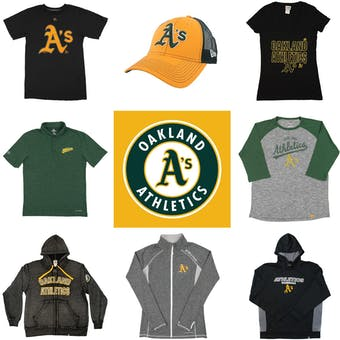 Oakland Athletics Officially Licensed MLB Apparel Liquidation - 1,030+ Items, $39,000+ SRP!