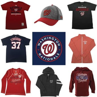 Washington Nationals Officially Licensed MLB Apparel Liquidation - 790+ Items, $36,000+ SRP!