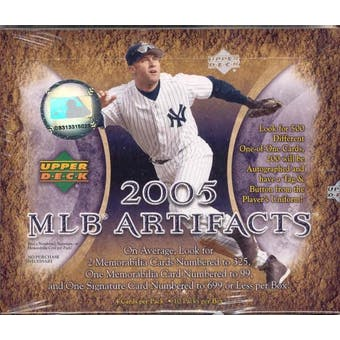 2005 Upper Deck Artifacts Baseball Hobby Box
