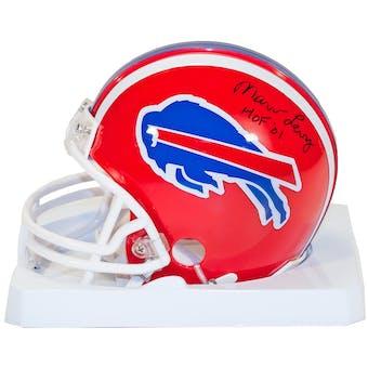 Marv Levy Autographed Buffalo Bills Football Mini Helmet w/HOF 01