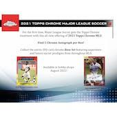 2021 Topps MLS Major League Soccer Chrome Hobby 12-Box Case (Presell)