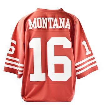 Joe Montana Mitchell & Ness Jersey 49ers Size XL Red