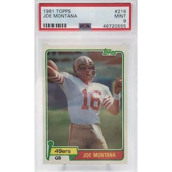 1981 Topps Joe Montana PSA 9 card #216