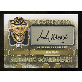 2012/13 In the Game Between The Pipes Autographs #AAMO Andy Moog DEC Autograph