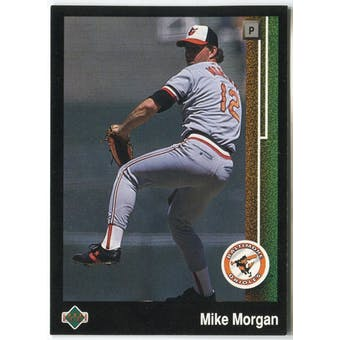 1989 Upper Deck Mike Morgan Baltimore Orioles #653 Black Border Proof