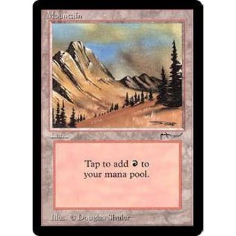 Magic the Gathering Arabian Nights Single Mountain - NEAR MINT minus (NM-)