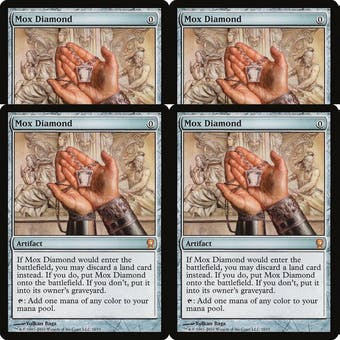Magic the Gathering From the Vault: Relics PLAYSET 4x Mox Diamond FOIL - NEAR MINT (NM) Sick Deal Pricing!