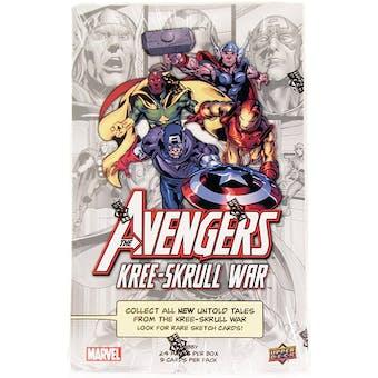 Marvel Avengers Kree-Skrull War Trading Cards Hobby Box (Upper Deck 2011)