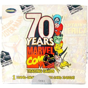 Marvel 70th Anniversary Trading Cards Box (Rittenhouse 2010)