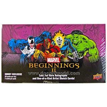 Marvel Beginnings II Trading Cards Hobby Box (Upper Deck 2012)