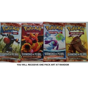 Pokemon Diamond & Pearl Mysterious Treasures SINGLE Booster Pack UNSEARCHED UNWEIGHED