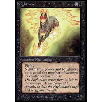 Magic the Gathering Alpha Single Nightmare - MODERATE PLAY (MP) - Artist signed in gold!