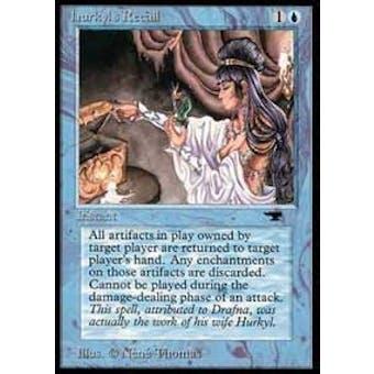 Magic the Gathering Antiquities Single Hurkyl's Recall - SLIGHT PLAY (SP) Sick Deal Pricing