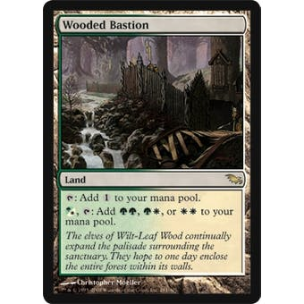 Magic the Gathering Shadowmoor Single Wooded Bastion - NEAR MINT (NM)