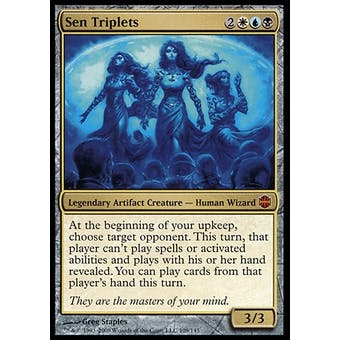 Magic the Gathering Alara Reborn Single Sen Triplets - HEAVY PLAY (HP)