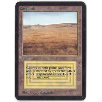 Magic the Gathering Alpha Single Savannah - SLIGHT PLAY (SP)
