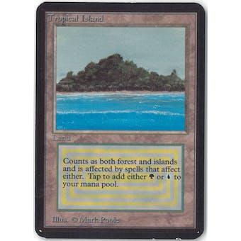 Magic the Gathering Alpha Single Tropical Island - SLIGHT PLAY (SP)