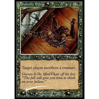 Magic the Gathering Promotional ARENA Single Diabolic Edict FOIL - NEAR MINT (NM) Sick Deal Pricing