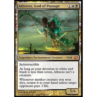 Magic the Gathering Journey into Nyx Single Athreos, God of Passage - SLIGHT PLAY (SP)