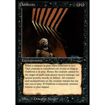 Magic the Gathering Arabian Nights Single Oubliette (Dark) - SLIGHT PLAY (SP)
