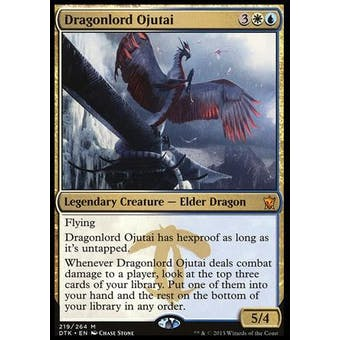 Magic the Gathering Dragons of Tarkir Single Dragonlord Ojutai NEAR MINT (NM)