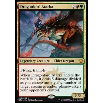 Magic the Gathering Dragons of Tarkir Single Dragonlord Atarka Foil NEAR MINT (NM)