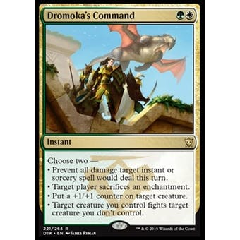 Magic the Gathering Dragons of Tarkir Single Dromoka's Command NEAR MINT (NM)