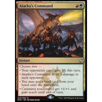 Magic the Gathering Dragons of Tarkir Single Atarka's Command Foil NEAR MINT (NM)