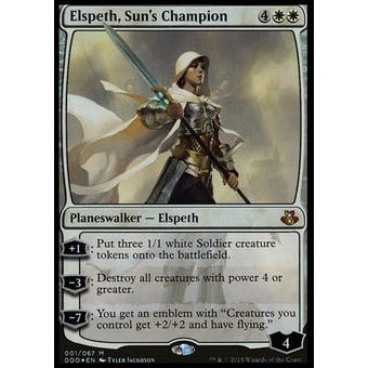 Magic the Gathering Duel Deck Single Elspeth, Sun's Champion FOIL - NEAR MINT (NM)
