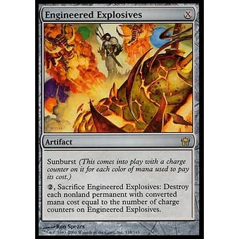 Magic the Gathering Fifth Dawn Single Engineered Explosives FOIL - SLIGHT PLAY (SP)