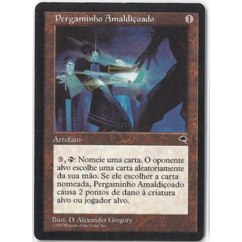 Magic the Gathering Tempest ITALIAN Single Cursed Scroll - SLIGHT PLAY (SP)