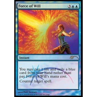 Magic the Gathering Promotional Single Force of Will FOIL (JUDGE) - NEAR MINT (NM)