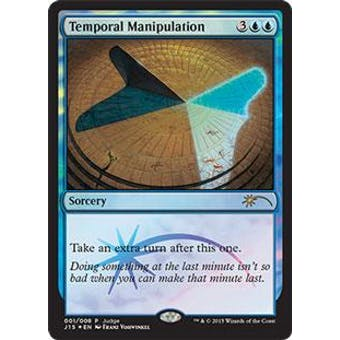 Magic the Gathering Judge Promo Single Temporal Manipulation FOIL - SLIGHT PLAY (SP) Sick Deal Pricing