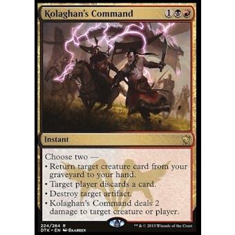 Magic the Gathering Dragons of Tarkir Single Kolaghan's Command Foil NEAR MINT (NM)