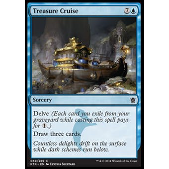 Magic the Gathering Khans of Tarkir Single Treasure Cruise FOIL - NEAR MINT (NM)