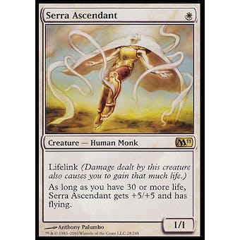 Magic the Gathering 2011 M11 Core Set Single Serra Ascendant - SLIGHT PLAY (SP)