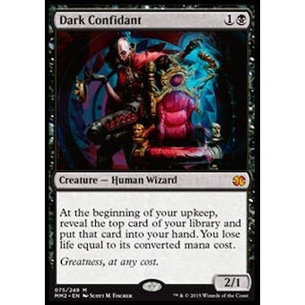 Magic the Gathering Modern Masters 2015 Edition Single Dark Confidant Foil NEAR MINT (NM)