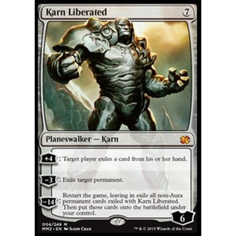 Magic the Gathering Modern Masters 2015 Edition Single Karn Liberated NEAR MINT (NM)