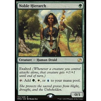 Magic the Gathering Modern Masters 2015 Edition Single Noble Hierarch Foil NEAR MINT (NM)