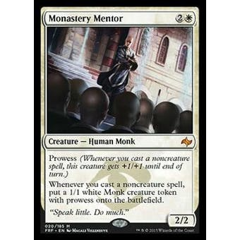 Magic the Gathering Fate Reforgred Single Monastery Mentor - SLIGHT PLAY (SP)