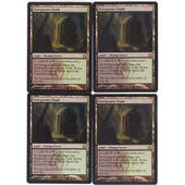 Magic the Gathering Return to Ravnica PLAYSET Overgrown Tomb X4 - SLIGHT PLAY (SP)