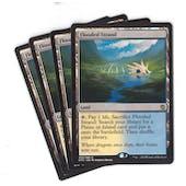 Magic the Gathering Khans of Tarkir PLAYSET Flooded Strand X4- NEAR MINT (NM)